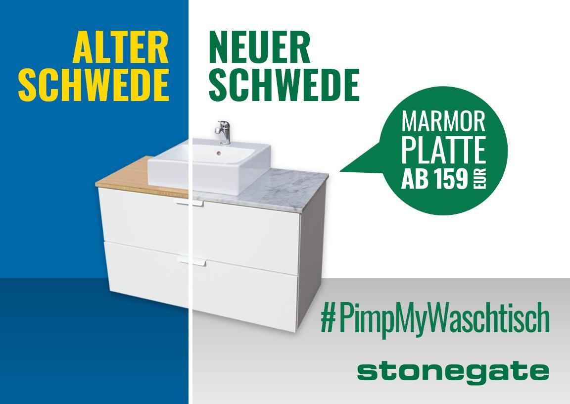 Alter Schwede - Neuer Schwede - Waschtischplatten  für IKEA Godmorgon Waschtische