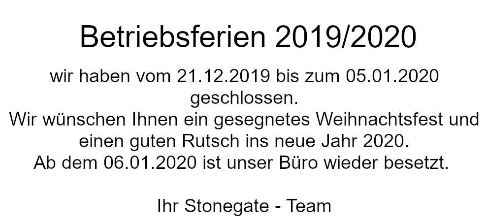 Betriebsferien 2019/2020